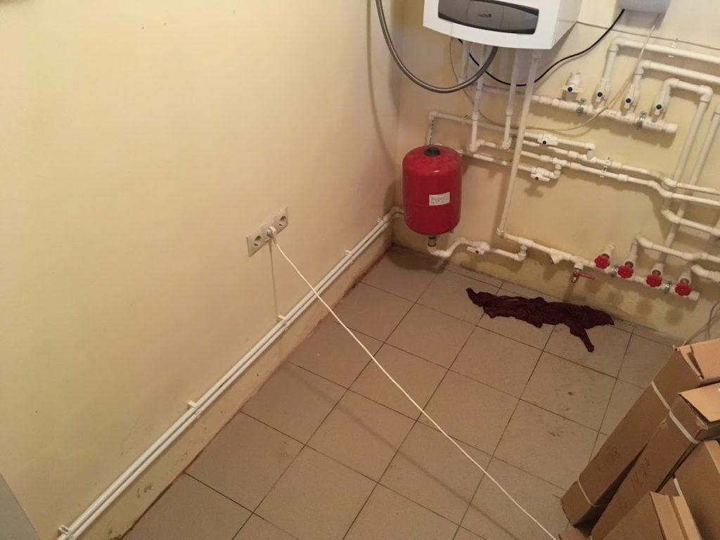 Монтаж отопления в бане